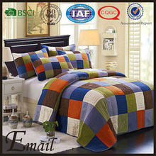 Modern Colorful block print dubai cotton patchwork bed sheet set/sets design for sale