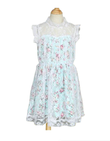 2015 Summer Flower One Piece Girls Party Dresses Though She Be Little Kid's Wear Drawing Pattern Girl Dress