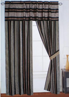 stripe window curtain with valance curtain fabric