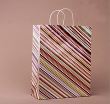 Beautiful Recyclable White Kraft Paper Bag with Twist Paper Handle