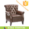 High Quality Sofa Chair Brown Leather Recliner Chair For Living Room Used