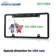 """US license plate Rearview camera with 1/4"""" Sharp CCD sensor"""