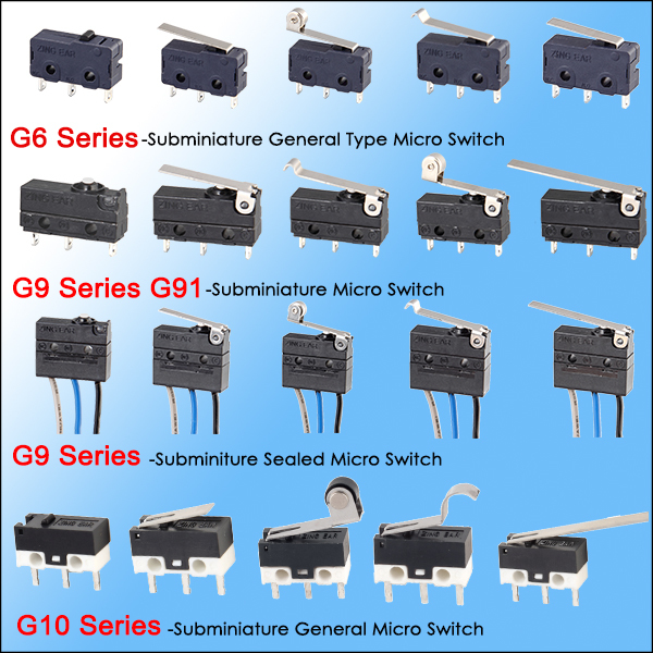 Subminiature micro switch series