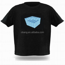 2015 custom glow t-shirt/ el t-shirt// led t-shirt