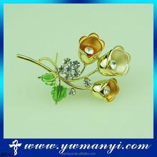 Shining Flower Design Rhinestone costume jewellery brooches