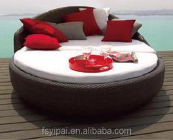 outdoor furniture bedroom wicker round sun bed YPS058