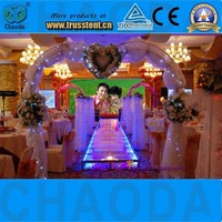 Transparent clear wedding stage decoration acrylic platform stage