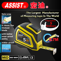 Made in china alibaba Rubber-Grip Automatic 5m steel custom abs case long measuring tape