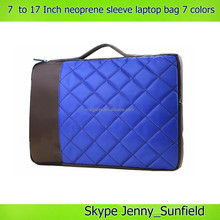 7 ~17 inch laptop sleeve neoprene laptop bag laptop messenger bag