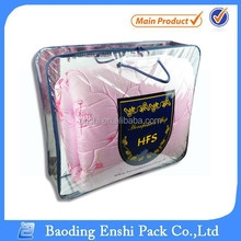 CHINA alibaba customized various style soft clear plastic PVC bedding and packing bag