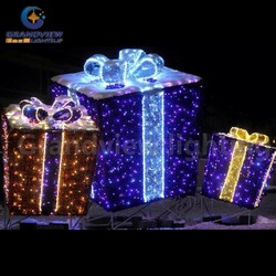 Gift box light Xmas holiday decoration light shopping Mall decor indoor and outdoor decor