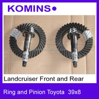 27 Splines or 29 splines 39x8 Front and Rear standard Toyota Landcruiser Crown wheel pinion