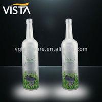 1l custom glass vodka bottle with private label
