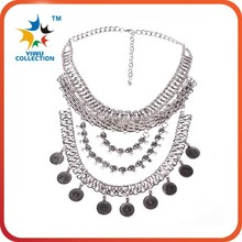 2015 statement necklace,trendy necklace 2015, silver jewelry