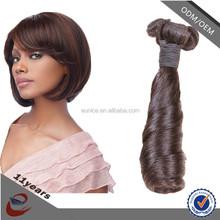 Popular raw virgin Brazilian hair, virgin Brazilian wavy hair, cheap human hair weaving