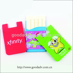 Smart wallet silicon card holder/sticker smart wallet/silicone card holder