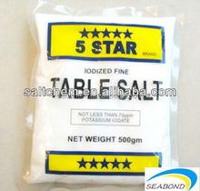 five star brand table salt,500grm food salt