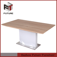 neoclassical furniture one piece wood dining table