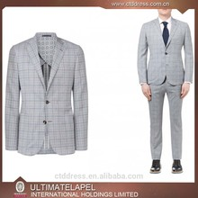 2015 de calidad superior 100% de lana a cuadros gris uniformes para profesores