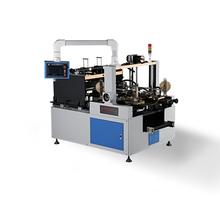 Paper tape corner pasting machine for rigid box making