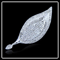 Factory Make Fashion Leaf Style Brooch In Gold Plating In Yiwu DRJ0076