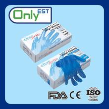 Heavy industry dark blue powdered/powder free xxl vinyl gloves
