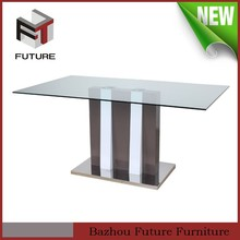 wooden dining table with glass top designs
