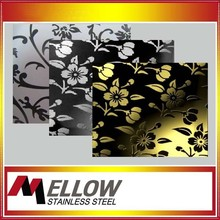 Art Chemical Acid Etch Stainless Steel Decorative Sheet/Plate with Facotry