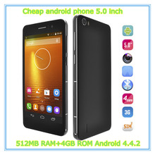 Made in China! 5.0 inch low price cell phone C6 MT6582, Android 4.4.2 512MB RAM 4GB ROM 5.0 MP