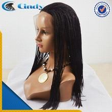 2015 populares 100% de la virgen brasileña trenzado del pelo humano de la venda de las pelucas para mujeres negras