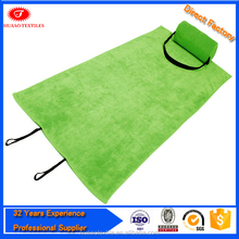 beach towel with inflatable pillow , beach towel double size