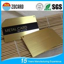 Top selling fashion blank metal business cards