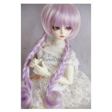 Purple color doll bjd hair wig