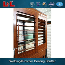 Aluminum sliding louver/metal lover/welding and powder coating skill