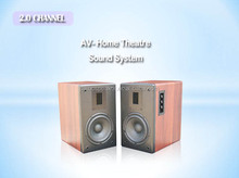 Wooden Music fancier protable Audio player HIFI Speaker 80W output power