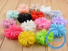Decorative Artificial Chiffon/Organza/Silk Fabric Flower For Hair