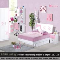 wholesale environmental-friendly paint kids bedroom furniture