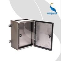 Saip/Saipwell High Quality 304 OEM ODM Metal Enclosure IP66 Outdoor Waterproof Custom Stainless Steel Metal Box