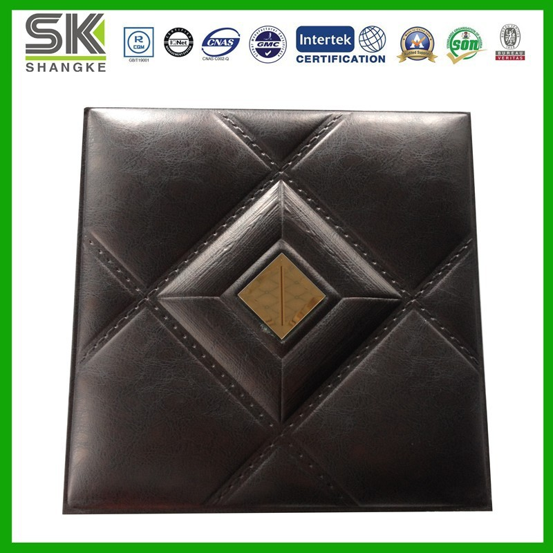 2015 new product classic home decoration pu leather home decorating products 2017 grasscloth wallpaper
