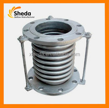 JF double flange end stainless steel expansion joint axial compensator