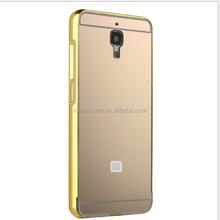 For xiaomi mi4i metal bumper mirror phone shell, mirror case for xiaomi mi4i