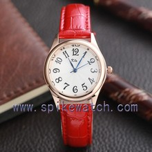 Red color accept PayPal women leather watches thailand
