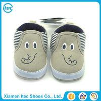 Canvas slip on elephant print big ears cartoon infant shoes