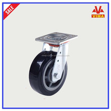 Loading capacity 400kg heavy duty wheels and casters,with iron dust-proof cover