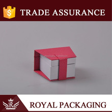 Mouth shape pink cover white inner packaging box for wedding ring diamond little craft and gift