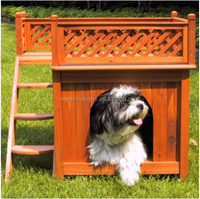 Outdoor Wood Dog Room with a View Pet House