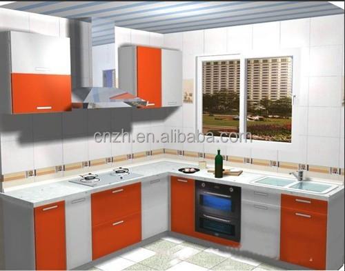 Naranja utilizado combinaciones mueble cocina de madera mdf para ...