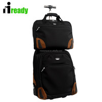 2015 fashion business style high quality polyester luggage , 2pcs trolley luggages