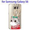 Hot sales Cartoon Pattern Smooth Surface back cover for Samsung s6 accessory