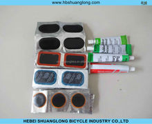 hot selling rubber bicycle cold patch,bicycle tube cold patch.